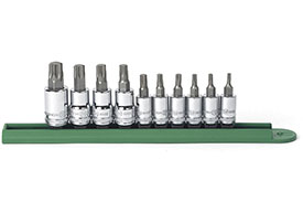 80722 GearWrench 1/4'' and 3/8'' Drive Torx Bit Socket 10 Piece Set