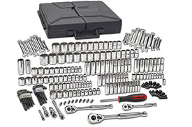 80933 GearWrench 1/4'', 3/8'' and 1/2'' Drive 6 and 12 Point SAE/Metric Mechanics Tool 216 Piece Set