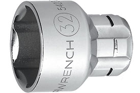 542190GR GearWrench 1/2'' Drive 6 Point Metric Vortex Sockets