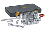 80300P GearWrench 1/4'' Drive 6 Point SAE/Metric Standard and Deep 120XP Mechanics Tool 51 Piece Set