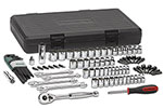 80930 GearWrench 1/4'' and 3/8'' Drive 6 and 12 Point SAE/Metric Mechanics Tool 88 Piece Set