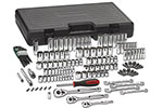 80931 GearWrench 1/4'', 3/8'' and 1/2'' Drive 6 and 12 Point SAE/Metric Mechanics Tool 141 Piece Set
