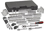 80932 GearWrench 1/4'', 3/8'' and 1/2'' Drive 6 and 12 Point SAE/Metric Mechanics Tool 165 Piece Set