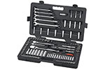 83001D GearWrench 1/4'', 3/8'' and 1/2'' Drive 6 and 12 Point SAE/Metric Mechanics Tool 118 Piece Set