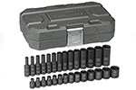 84901 GearWrench 1/4'' Impact Socket 28 Piece Set, Metric