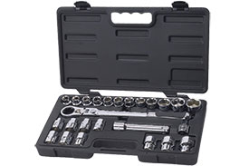 891226 GearWrench 1/2'' Drive 6 Point SAE/Metric Pass-Thru with Locking Flex GearRatchet 25 Piece Mechanics Tool Set