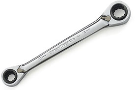 85212 GearWrench 16mm, 17mm 18mm, 19mm 12 Point QuadBox Double Box Ratcheting Wrench