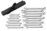 81920 GearWrench 12 Point Metric Long Pattern Combination Wrench 18 Piece Set With Wrench Roll