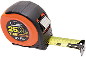 XL8525D Lufkin Xtra-Wide Power Return Tape Measure