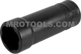 TD38625B 16mm- 5/8'' Deep Turbo Socket, 3/8'' Square Drive