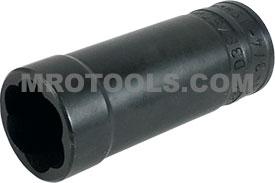 TD38750B 19mm- 3/4'' Deep Turbo Socket, 3/8'' Square Drive